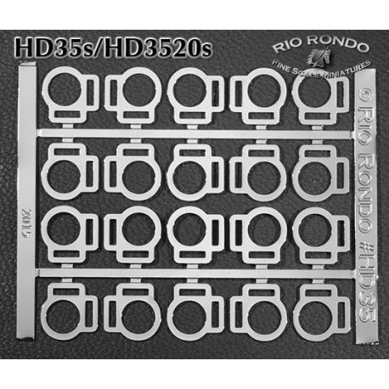 Rio Rondo - HD3520s zestaw 20x sprzączki podwójne TR srebrne