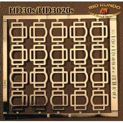 Rio Rondo skala TR - HD3020g zestaw 20x sprzączki potrójne złote