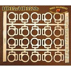 Rio Rondo skala TR - HD3520g zestaw 20x sprzączki podwójne złote