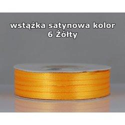 Wstążka satynowa 3mm/1m kolor 6 Żółty