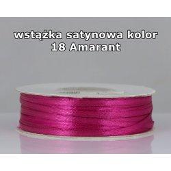 Wstążka satynowa 3mm/1m kolor 18 Amarant