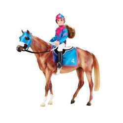Breyer Traditional 1727 - Koń i jeździec wyścigowy
