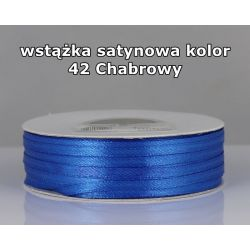 Wstążka satynowa 3mm/1m kolor 42 Chabrowy