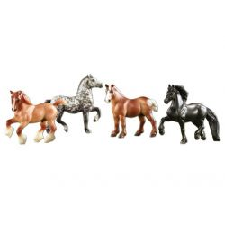 Breyer Stablemates 6021 - Gentle Giants - 4 konie zimnokrwiste