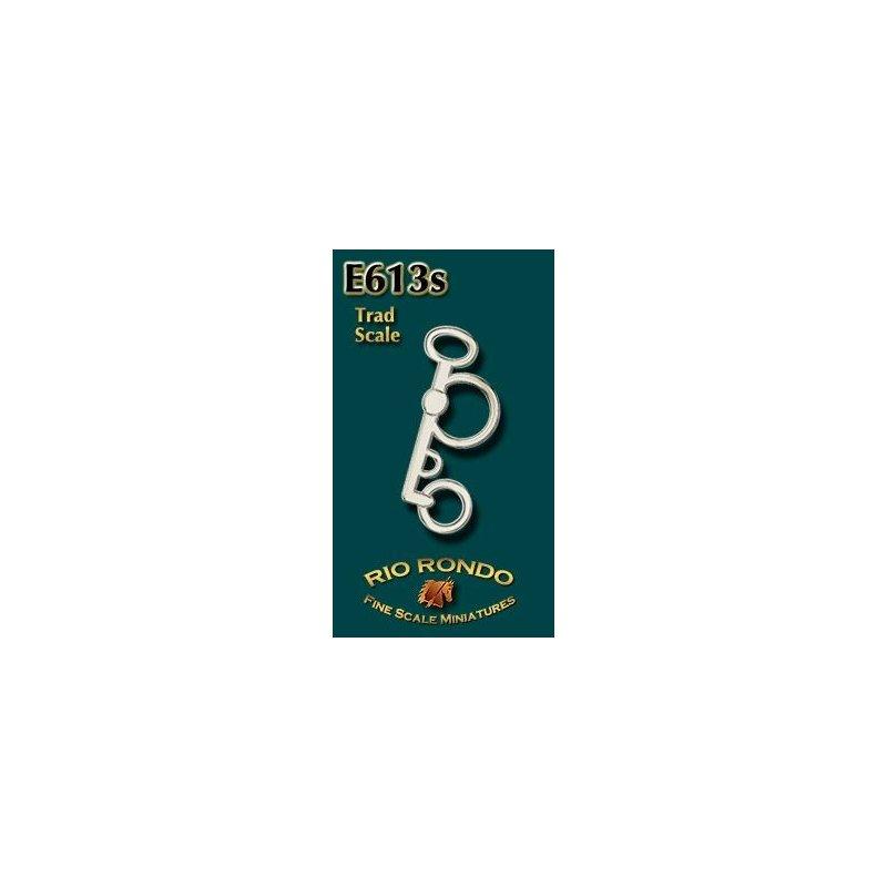 Rio Rondo skala TR - Wędzidło pelham E613s srebrne komplet