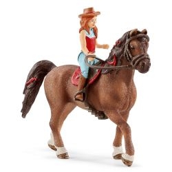Schleich 42411 - Jeździec Hannah i wałach Cayenne