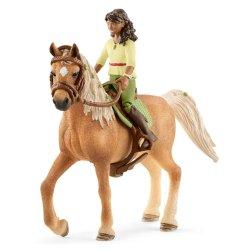 Schleich 42414 - Jeździec Sarah i koń Mystery