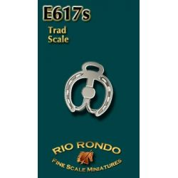 Rio Rondo skala TR - Wędzidło pokazowe E617s srebrne komplet