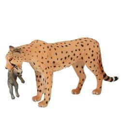 Mojo 387167 - Gepard grzywiasty samica z młodym wersja A