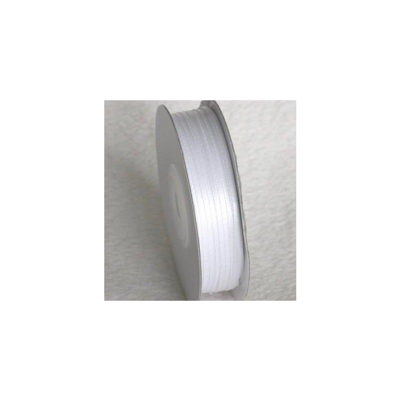 Wstążka satynowa 1,6 mm/1 m kolor biały