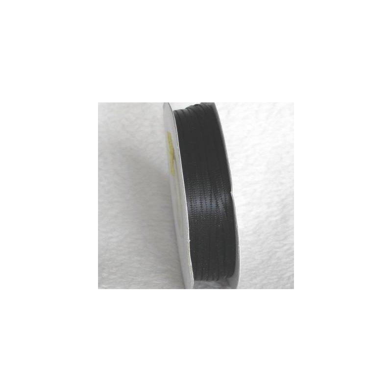 Wstążka satynowa 1,6 mm/1 m kolor czarny