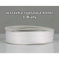 Wstążka rypsowa 3mm kolor 1 Biały cała rolka