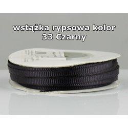 Wstążka rypsowa 3mm kolor 33 Czarny cała rolka