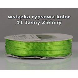 Wstążka rypsowa 3mm kolor 11 Jasny Zielony cała rolka