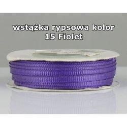 Wstążka rypsowa 3mm kolor 15 Fiolet cała rolka