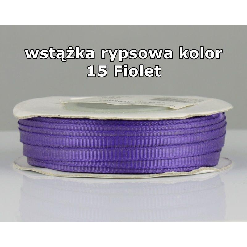 Wstążka rypsowa 3mm/1m kolor 15 Fiolet