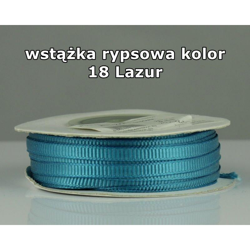 Wstążka rypsowa 3mm/1m kolor 18 Lazur
