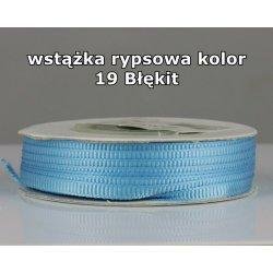 Wstążka rypsowa 3mm kolor 19 Błękit cała rolka