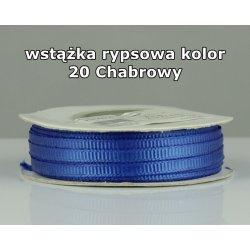 Wstążka rypsowa 3mm kolor 20 Chabrowy cała rolka