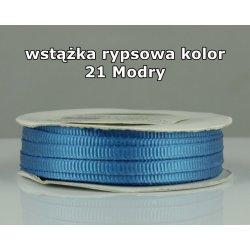 Wstążka rypsowa 3mm kolor 21 Modry cała rolka