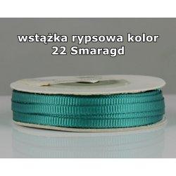 Wstążka rypsowa 3mm kolor 22 Szmaragd cała rolka