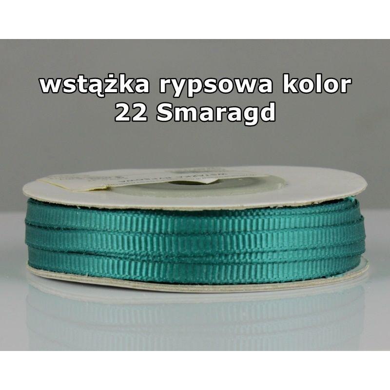 Wstążka rypsowa 3mm/1m kolor 22 Szmaragd