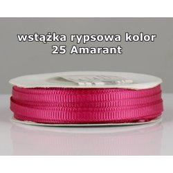 Wstążka rypsowa 3mm kolor 25 Amarant cała rolka