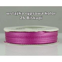 Wstążka rypsowa 3mm kolor 26 Biskupi cała rolka