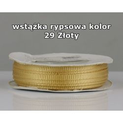Wstążka rypsowa 3mm kolor 29 Złoty cała rolka