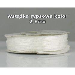 Wstążka rypsowa 3mm kolor 2 Ecru cała rolka
