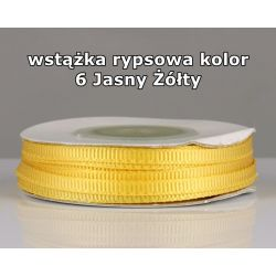 Wstążka rypsowa 3mm kolor 6 Jasny Żółty cała rolka