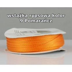 Wstążka rypsowa 3mm kolor 9 Pomarańcz cała rolka