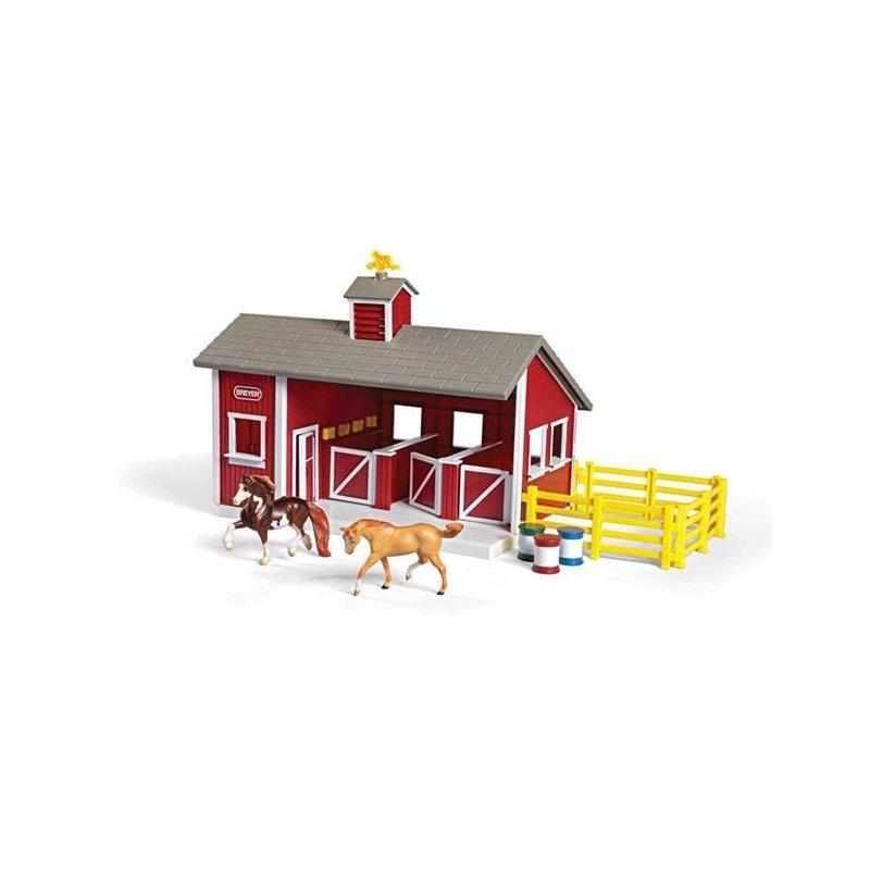 Breyer Stablemates 59197 - Stajnia z końmi i wyposażeniem