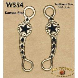 Rio Rondo skala TR - Wędzidło Kansas Star W554 srebrne komplet