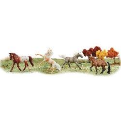 Breyer Stablemates 6036 - Zestaw 4 konie w ciapki