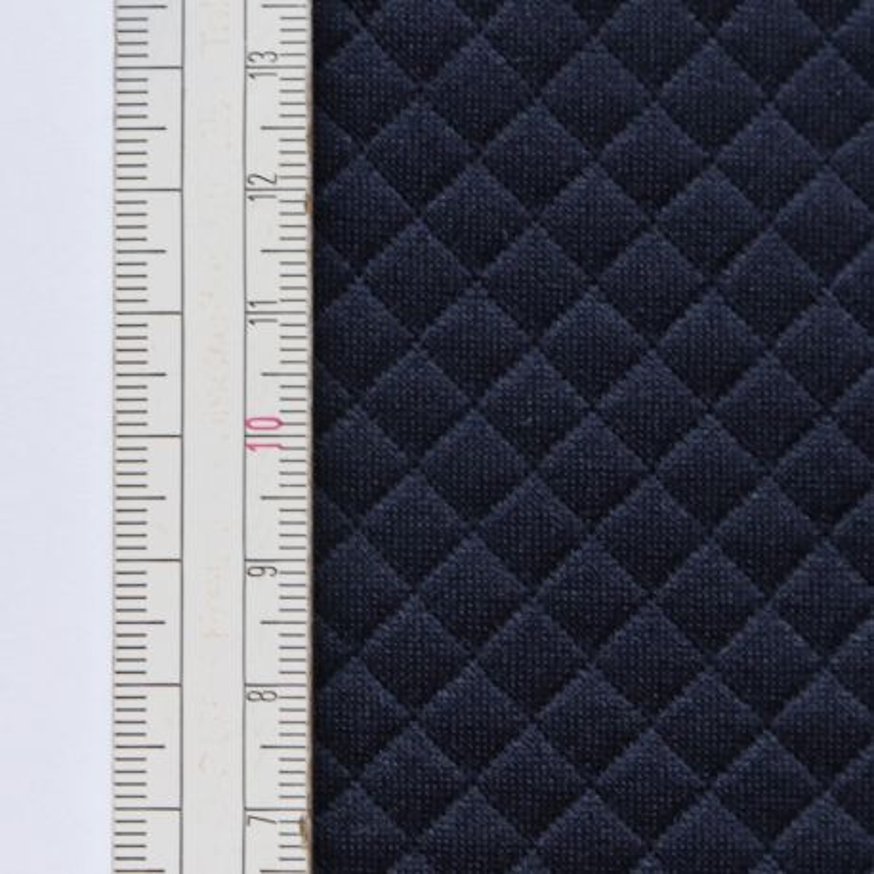 Materiał pikowany 7x7 Granatowy