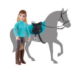 Breyer 62022 - Lalka Heather z siodłem i ogłowiem