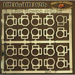 Rio Rondo skala TR - HD3620g zestaw 20x sprzączki podwójne złote