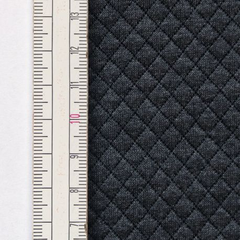 Materiał pikowany 5x5 Ciemny Szary Melanż