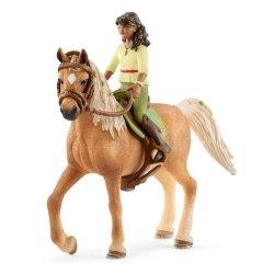 Schleich 42517 - Jeździec Sarah i koń Mystery