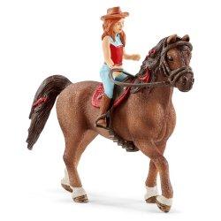Schleich 42514 - Jeździec Hannah i koń Cayenne wersja 2