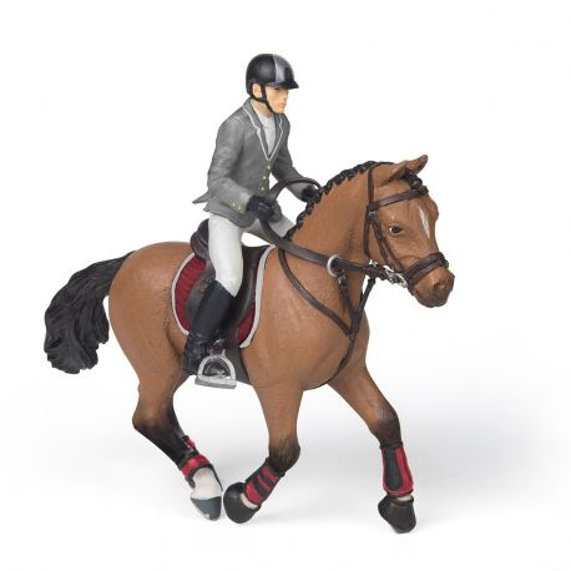 Papo 51561 - Biegnący koń z jeźdźcem