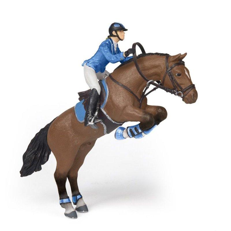 Papo 51560 - Skaczący koń z jeźdźcem