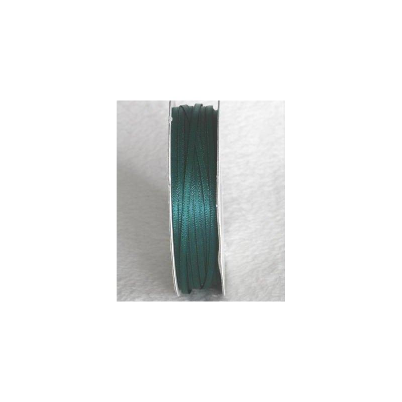 Wstążka satynowa 1,6 mm/1 m kolor ciemna zieleń