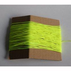 Sznurek pleciony 1mm/1m neonowy żółty