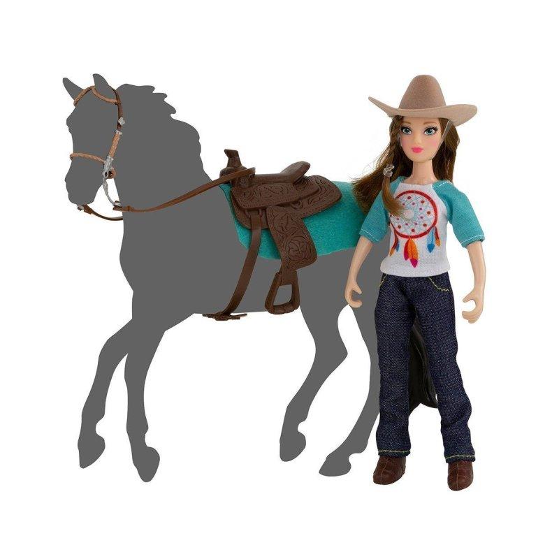 Breyer Classics 62025 - Lalka Natalia z siodłem i ogłowiem