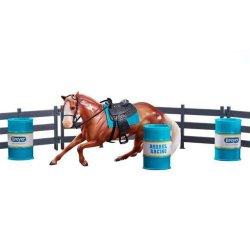 Breyer Classics 62201- Zestaw Barrel Racing wyścig wokół beczek