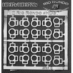 Rio Rondo skala CL - HD3720s zestaw 20x sprzączki podwójne srebrne