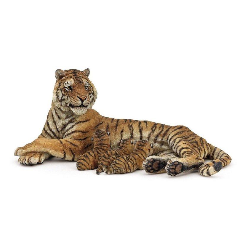 Papo 50156 - Tygrysica leżąca z młodymi