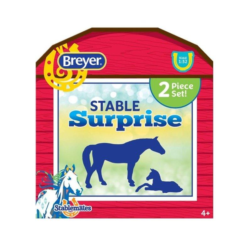 Breyer Stablemates 6049 - Koń oraz źrebak stajnia niespodzianka